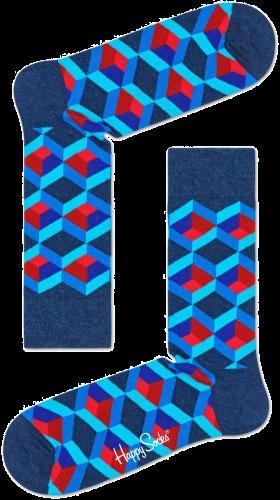 Happy Socks Chaussettes OPTIC SQUERE en bleu