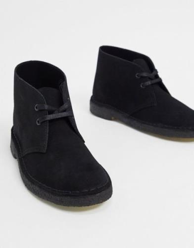 Clarks Originals desert boots in black suede